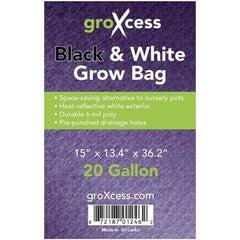 GroXcess® Black & White Grow Bag, 20 gal