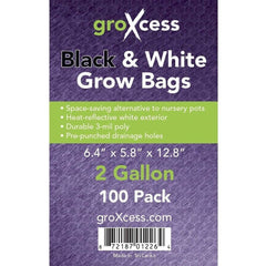 GroXcess® Black & White Grow Bags, 2 gal | Pack of 100
