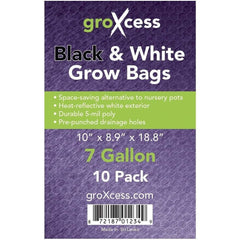 GroXcess® Black & White Grow Bags, 7 gal | Pack of 10
