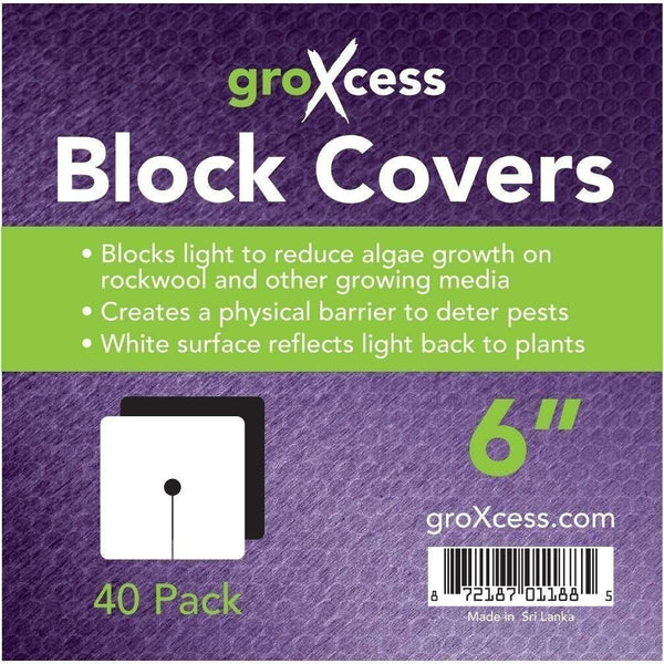 Groxcess® Block Cover 6 | Pack Of 40 Hydroponics Caps & Covers