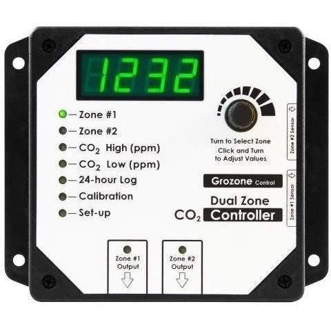 Grozone Control CO2D 0-5000 PPM Dual Zone CO2 Controller