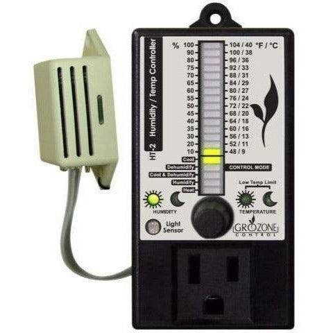 Grozone Control Ht2 Climate Controller (Temp & Rh) Single Output Bargraph Display | Special Order Only Controllers Atmosphere