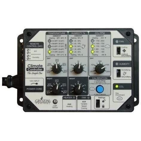 Grozone Control Scc1 Temperature Humidity & Co2 Controller Simple One Series | Special Order Only Controllers Atmosphere