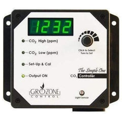 Grozone Control SCO2 0-5000 PPM CO2 Controller, Simple One Series
