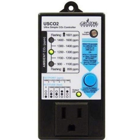 Grozone Control Usco2 0-2000 Ppm Single Zone Ultra Simple Co2 Controller Controllers |