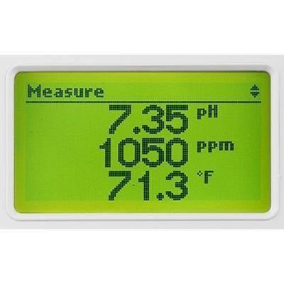 HANNA® GroLine Hydroponic Monitor w/ INLINE PROBE for pH, EC, TDS, Temperature