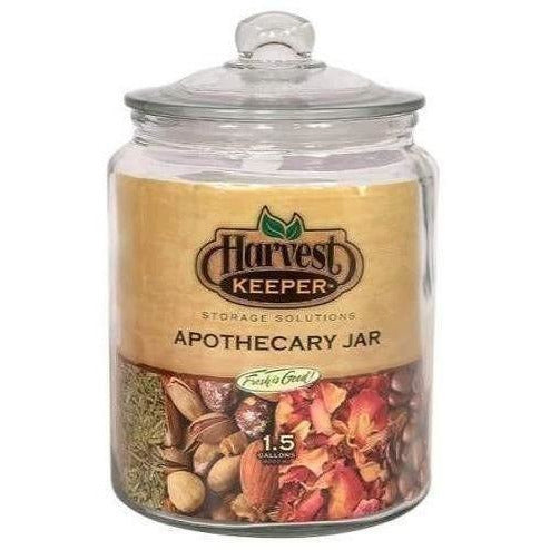 Harvest Keeper® Glass Apothecary Jar With Sealed Lid 1.5 Gal | Food Storage