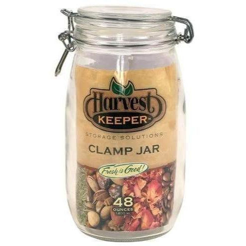 Harvest Keeper® Glass Jar with Metal Clamp Lid, 48 oz