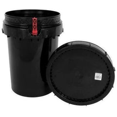 Harvest Keeper® Spin Lock Black Bucket with Lid, 12 Gal