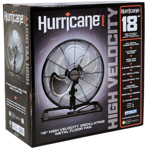 Hurricane® Pro High Velocity Metal Floor Fan, 18""