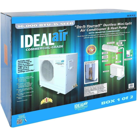 Ideal-Air™ Mini Split Heat Pump, 36,000 BTU 15 SEER