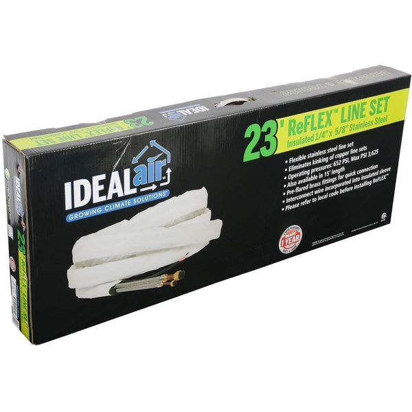 "Ideal-Air™ ReFlex™ Line Set 1/4"" x 5/8"" x 23' Insulated with Interconnecting Wire"