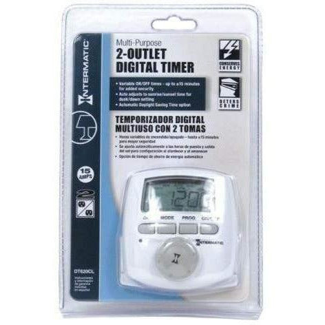 Intermatic® 2-Outlet Digital Timer, 120V