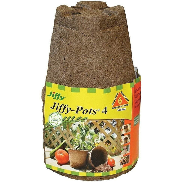 Jiffy® Jiffy-Pots® 4 Round | Pack Of 6 Seed & Clone Inserts Plugs