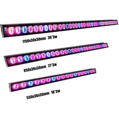 LED Grow Light 54W Veg & Bloom Spectrum Light Bar, 2ft