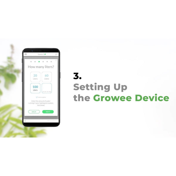 Growee Automated Nutrient and pH Controller WIFI APP Based Monitoring