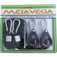 "METAVEGA 1/4"" HEAVY DUTY Metal Gear Rope Ratchet Set - 300lb Support"