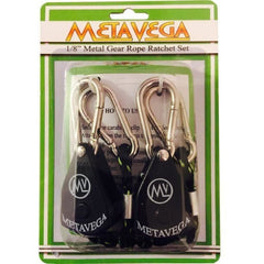 "METAVEGA 1/8"" Metal Gear Rope Ratchet Set - 150lb Support"