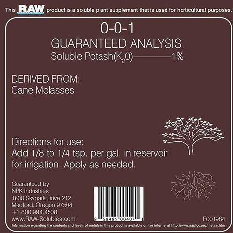 NPK RAW Cane Molasses, 25 lb | Special Order Only