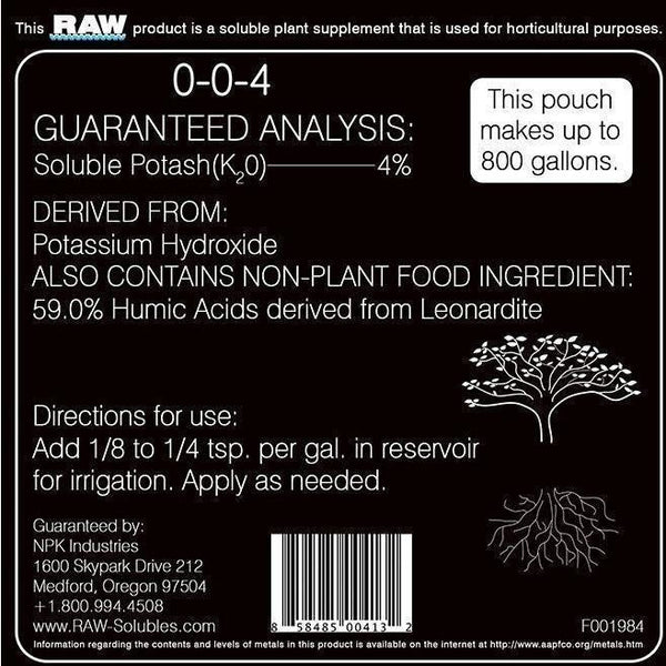 Npk Raw Humic Acid 10 Lb | Special Order Only Nutrients Granular & Powder