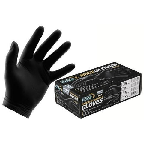 Grower's Edge® Black Powder Free Nitrile Gloves 6 mil, Large | Box of 100