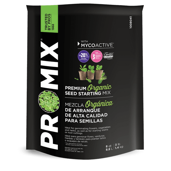 PRO-MIX® Organic Seed Starting Mix with MYCOACTIVE®, 8 qt