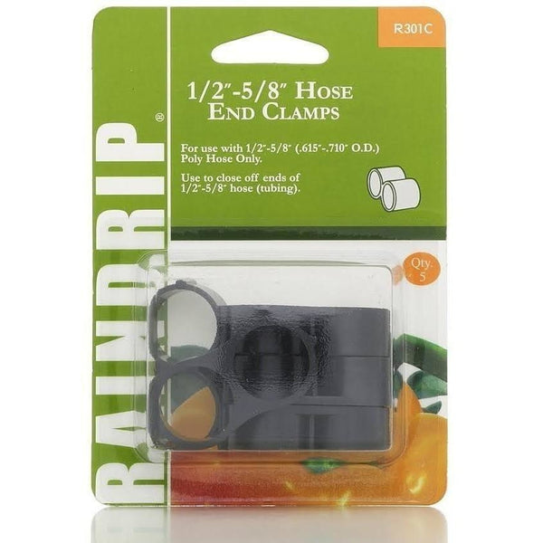 Raindrip® Hose End Clamps 1/2 - 5/8 | Pack Of 5 Hydroponics