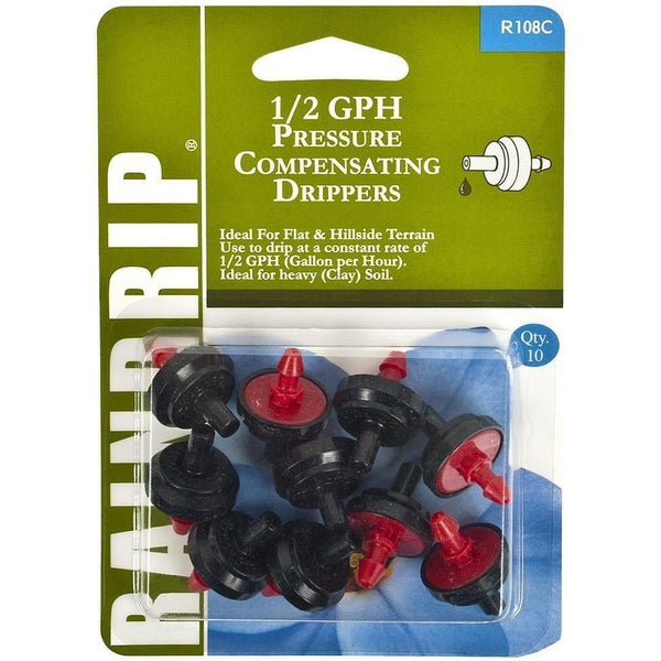 Raindrip® Pressure Compensating Drippers 1/2 Gph | Pack Of 10 Irrigation Spray & Drip Parts