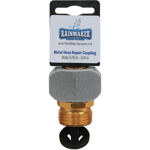 "Rainmaker® Metal Hose Repair Coupling Male, 5/8"" - 3/4"""