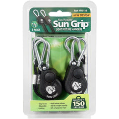 Sun Grip® Push Button Light Hanger Pair, 1/8""