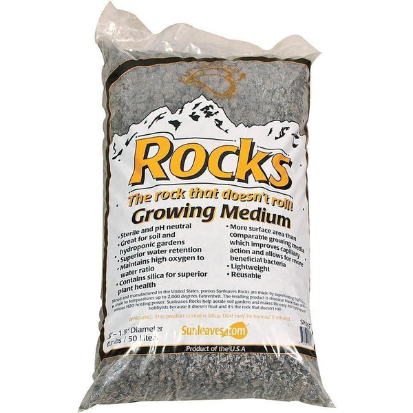 Sunleaves® Rocks 0.5 - 1.5 50 L Grow Media | Stones &