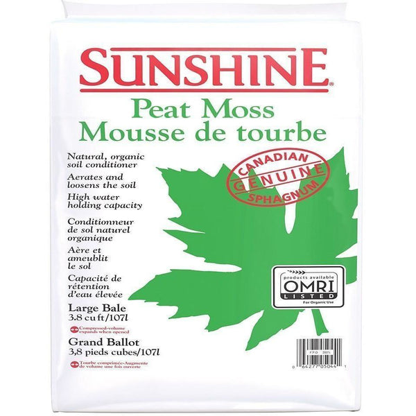Sunshine® Peat Moss 3.8 Cu Ft Grow Media | Soil & Soiless