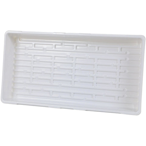 Super Sprouter® Triple Thick Tray 10 x 20 White, No Hole | Case of 50