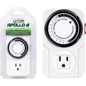 Titan Controls® Apollo® 6, One Outlet Mechanical Timer
