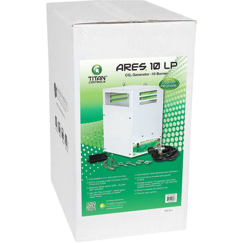 Titan Controls® Ares® 10, Ten Burner LP CO2 Generator, 26.5 cu ft/hr