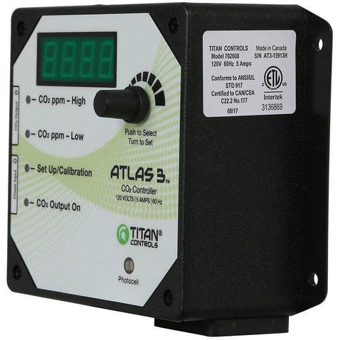 Titan Controls® Atlas® 3, Day/Night CO2 Monitor/Controller