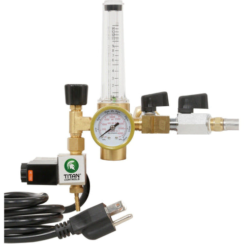 Titan Controls® CO2 Two Tank Regulator System with Shutoff Valves