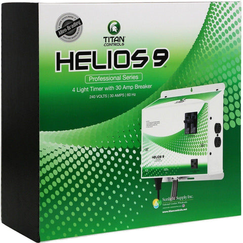 Titan Controls® Helios® 9, Pre-Wired 4-Light 240 Volt Controller with Trigger Cord & Timer