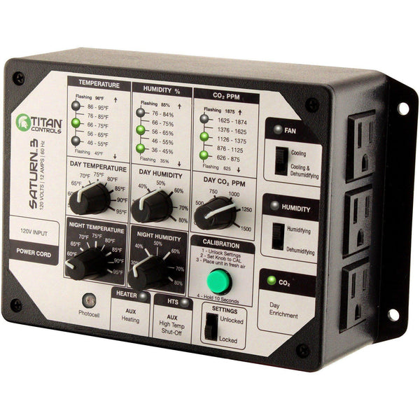 Titan Controls® Saturn® 3 Digital Temperature Humidity & Co2 Controller Controllers | Atmosphere