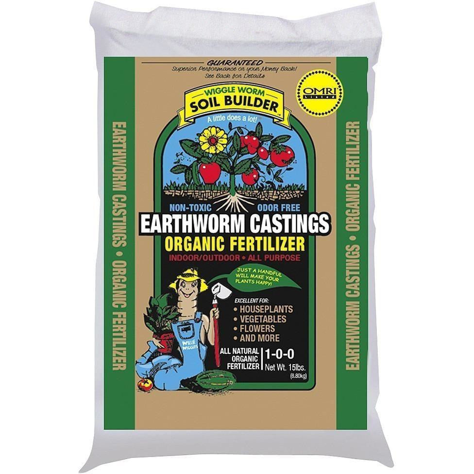 Wiggle Worm Soil Builder Earthworm Castings, 15 lb