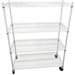 "Wire Rack 48""x20""x60"" 4 Tier w/Casters"