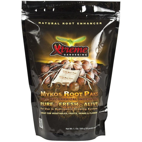 Xtreme Gardening® Mykos Root Paks Hydro 10 G | Pack Of 50 Nutrients Beneficial Microbes