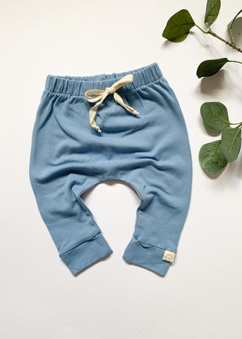 Powder Blue Baby Toddler Harem Leggings - Sadie:Baby UK