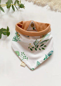 Reversible Herb Latte Dribble Bandana Bib - Sadie:Baby UK
