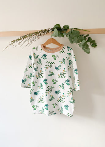 Herb Print Baby Toddler Sweatshirt Dress - Sadie:Baby UK