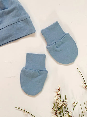 Powder Blue Scratch Mittens - Sadie:Baby UK