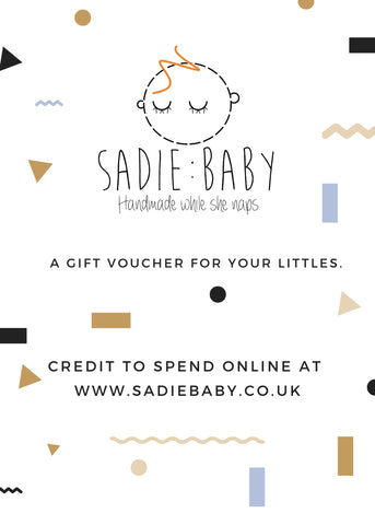 gift card - Sadie:Baby UK