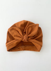 Rust Baby Turban Bow Hat - Sadie:Baby UK