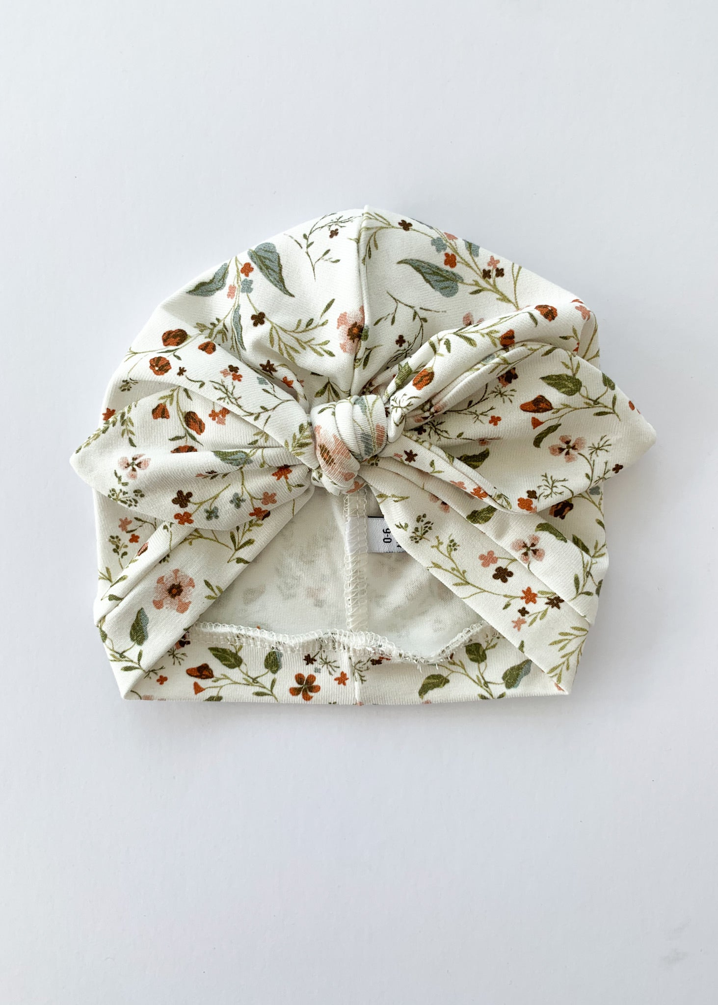 Wild Flowers Baby Turban Bow Hat - Sadie:Baby UK