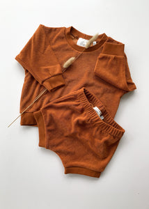 shorty lounge set | rust - Sadie:Baby UK